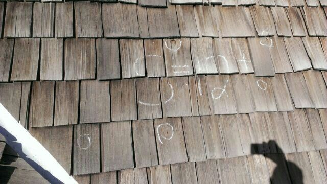 Woodshake Hail Damage Roof Restoration Wood Decor