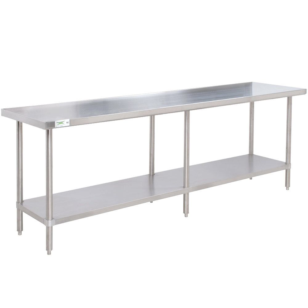 Regency 30 X 84 16 Gauge 304 Stainless Steel Commercial Work Table With Undershelf Stainless Steel Prep Table Stainless Steel Work Table Stainless Steel Kitchen Cabinets