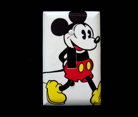 Light Switch Cover Disney Mickey Mouse Classic / Childrens