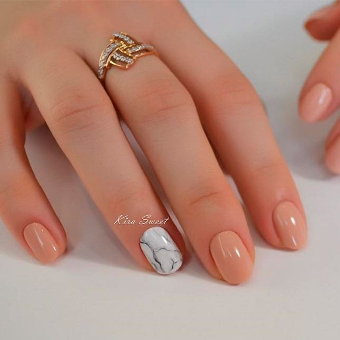 Lovely Rounded Nails Designs picture 2 - 21 Soft And Feminine Designs For Pink And White Nails Every Girl