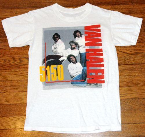 8d2d5e2f2 Vintage-Van-Halen-5150-Concert-Shirt-1986-White | Theme: Vaporwave ...