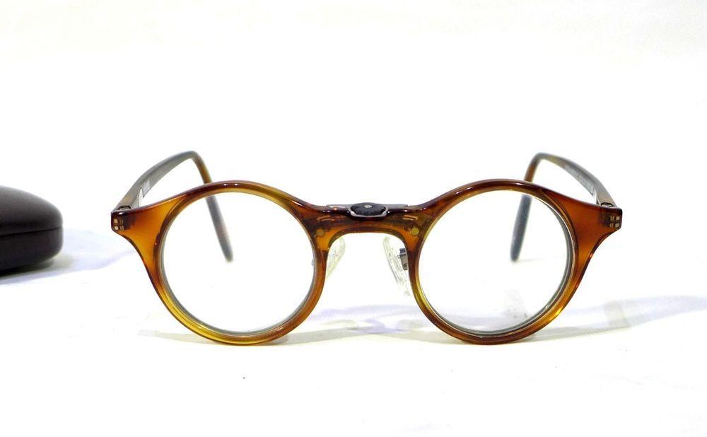 9c47f964206 Super Focus Eyeglasses Leonardo C 3702 150 Italy Flex Hinge Tortoise Silver  Exc