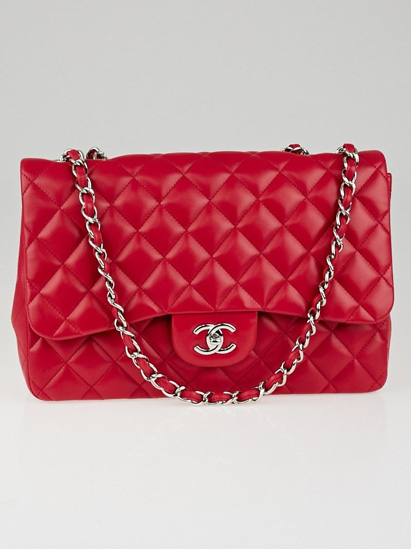 68c32a3b6a5fa5 Chanel Pink Quilted Lambskin Leather Classic Jumbo Single Flap Bag ...