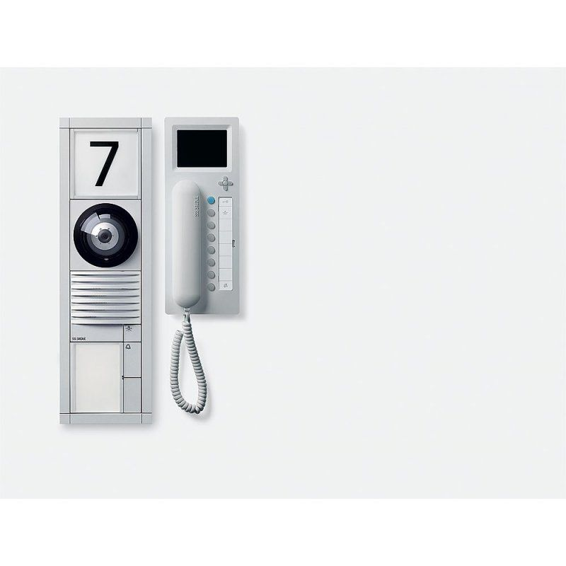 sss siedle door station vario design video handset with intercom features intercom siedle. Black Bedroom Furniture Sets. Home Design Ideas