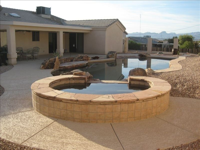 Beautiful lake havasu home with beach entry poolswim up