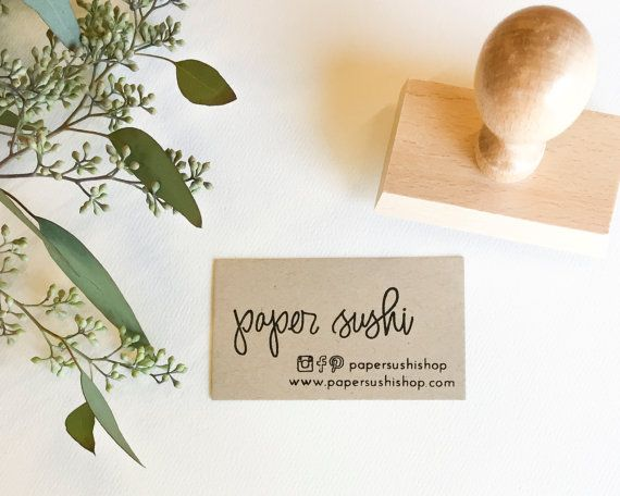 This custom business card stamp features my calligraphy and your this custom business card stamp features my calligraphy and your shop information use business card blanks or cut card stock down to size and use this reheart Images