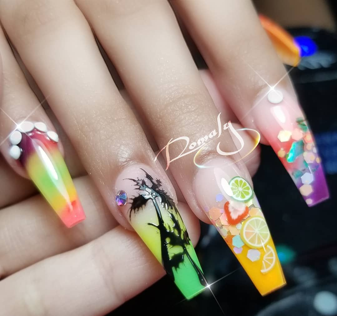 Orlando Nails On Instagram Bahama Nails For My Friend Jaiialluree For Appointments And Classes Text 407 745 7540 U Tropical Nail Designs Nails Nail Games