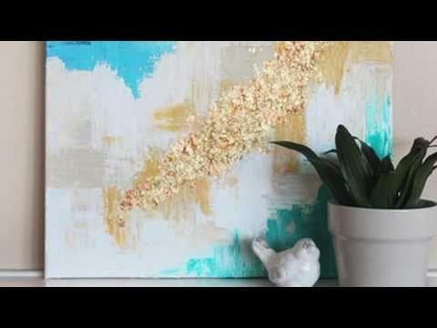 DIY~ Abstract Art! EASY - YouTube   film   Pinterest