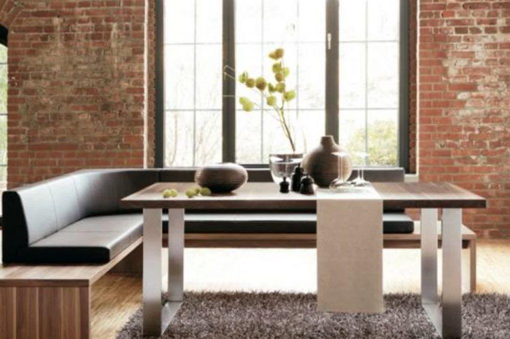 Tavolo Da Pranzo Con Panca Angolare.Tavoli Da Pranzo Moderni Eleganti Con Panche Immagini Tavolo