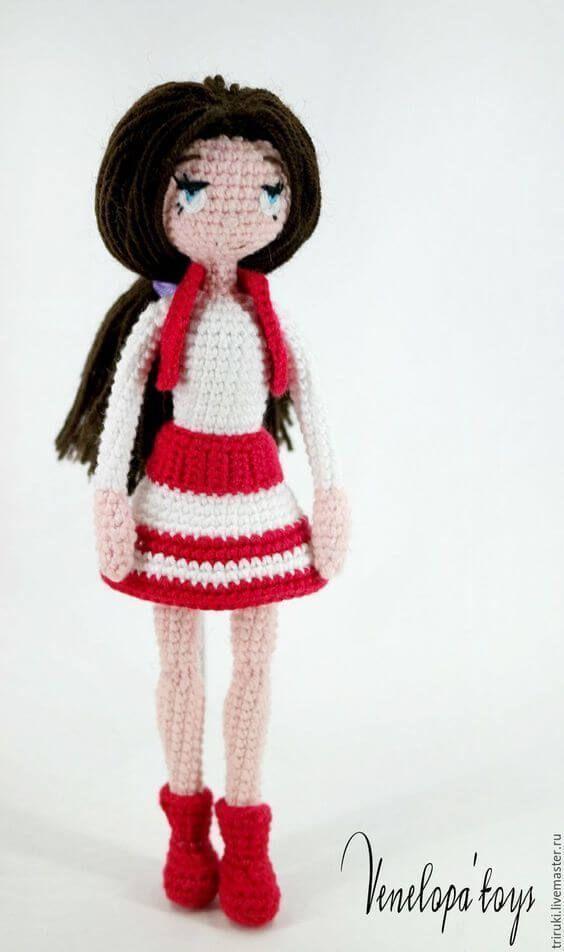 Muñeca Amigurumi Articulada   Muñeca amigurumi, Los muñecos y Tan sola