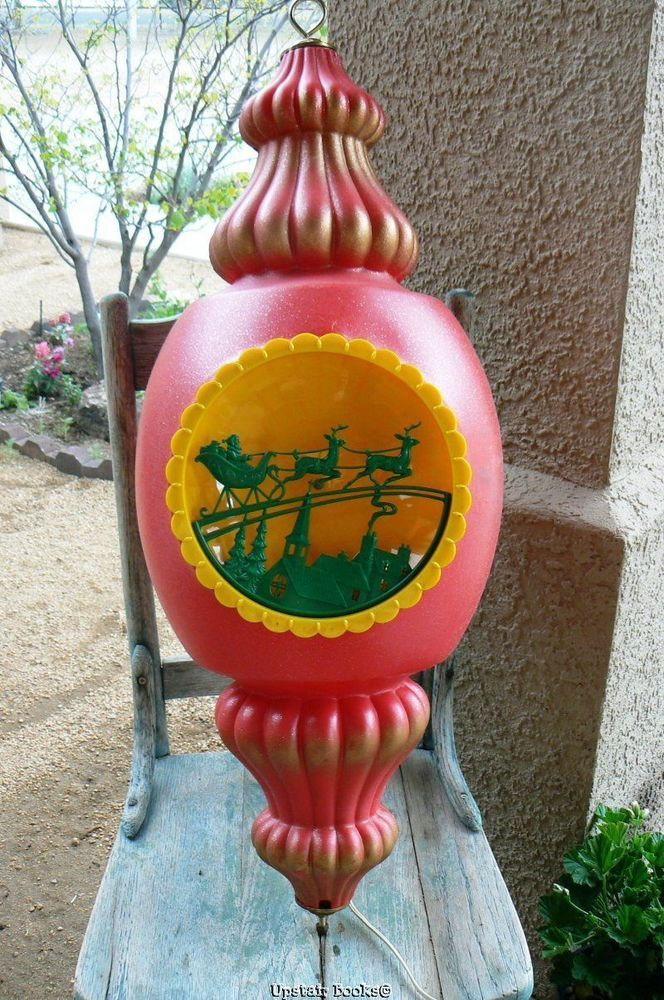 Large Vintage 1964 Beco Blow Mold Red Glittered Christmas Ornament 3