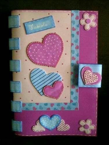 M s y m s manualidades muchas ideas para forrar cuadernos con foamy o goma eva como forrar - Moldes reposteria originales ...