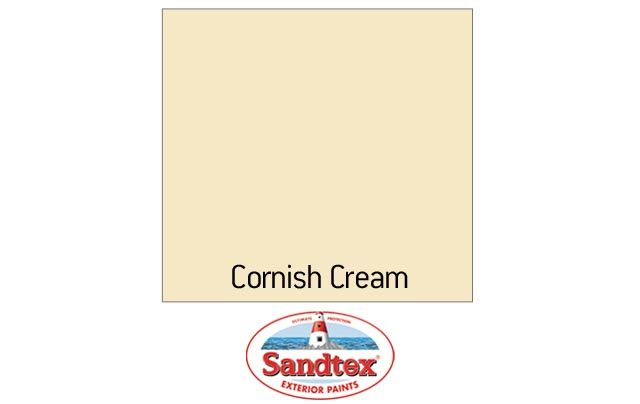 sandtex smooth masonry paint cornish cream 10l. Black Bedroom Furniture Sets. Home Design Ideas