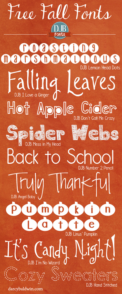 Favorite Free Fall Fonts | Fall fonts, Fancy fonts, Computer font