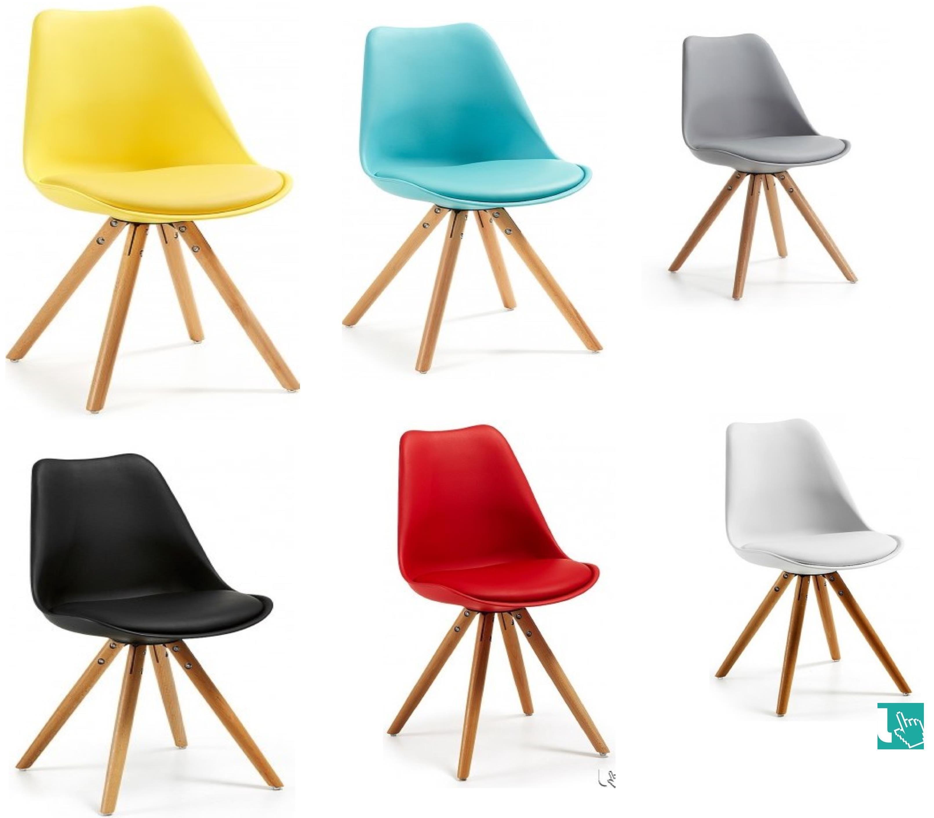 Sedie In Ecopelle Colorate.Sedia Colorata In Stile Scandinavo Linee Semplici Geometrie
