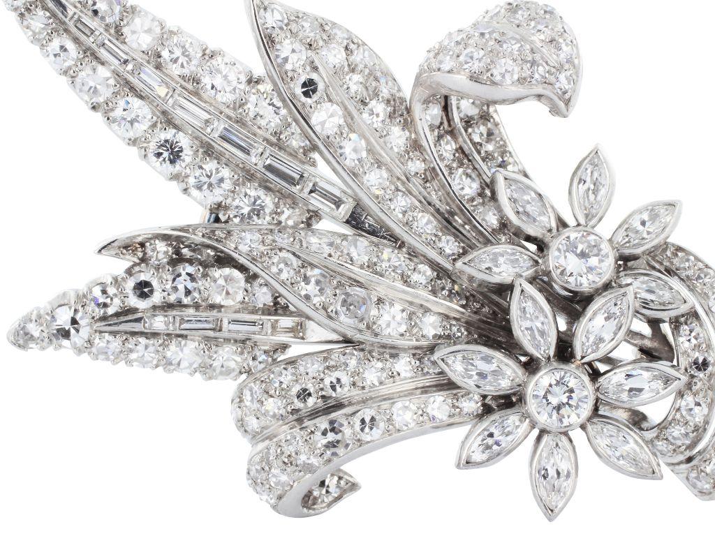 Garrard u co floral diamond pin pin image diamond and floral