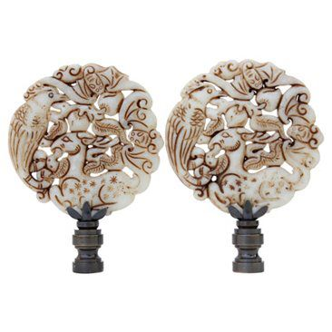 Finials For Lamps Cool Check Out This Item At One Kings Lane Asian Fauna Lamp Finials