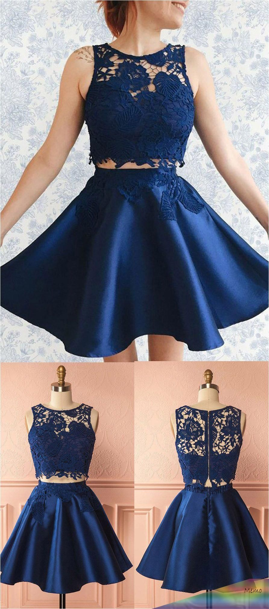 Mar 28, 2020 - Two Pieces Homecoming Dresses,Blue ...