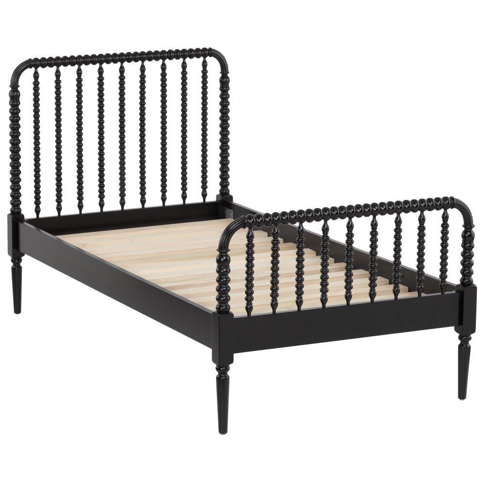 Best Jenny Lind Kids Bed Black Crate And Barrel Black 400 x 300