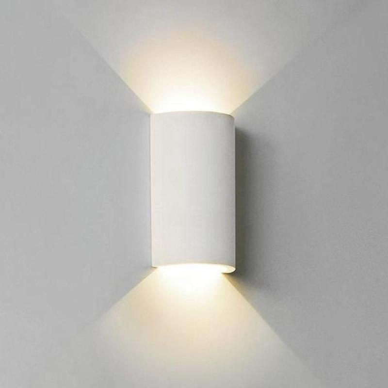 Modern Round White Plaster Light Warm Or Cool Light Lighting Collective Interior Wall Lights