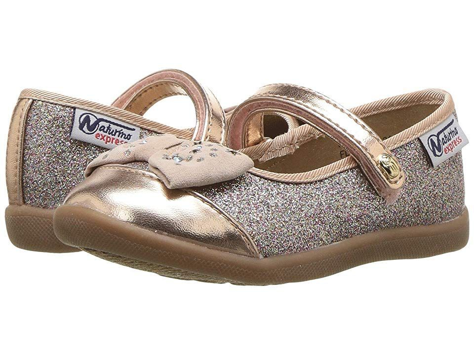 Naturino Express Luciana Toddler Little Kid Rose Gold Girls Shoes So Adorable They Put A Bow On It M Toms Shoes Outfits Girls Shoes Kids Girls Gold Shoes