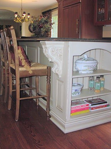 Open Shelves On Kitchen Island   Architectural Turnings