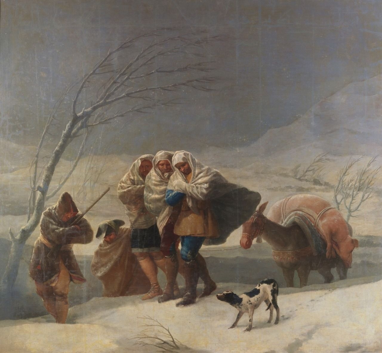 The snow or Winter (oil on canvas) GOYA AND LUCIENTES