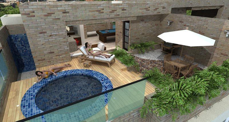 Conjunto residencial ancares campestre jacuzzi terraza tercer piso plano pinterest - Jacuzzi para terraza ...