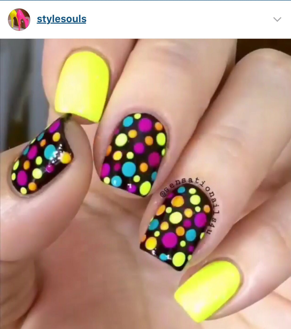 Pin by Jessica Wong on Nails   Pinterest   Colourful nails, Neon ...