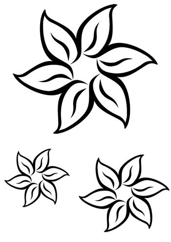 Blume basteln - 3 #steinebemalenvorlagen