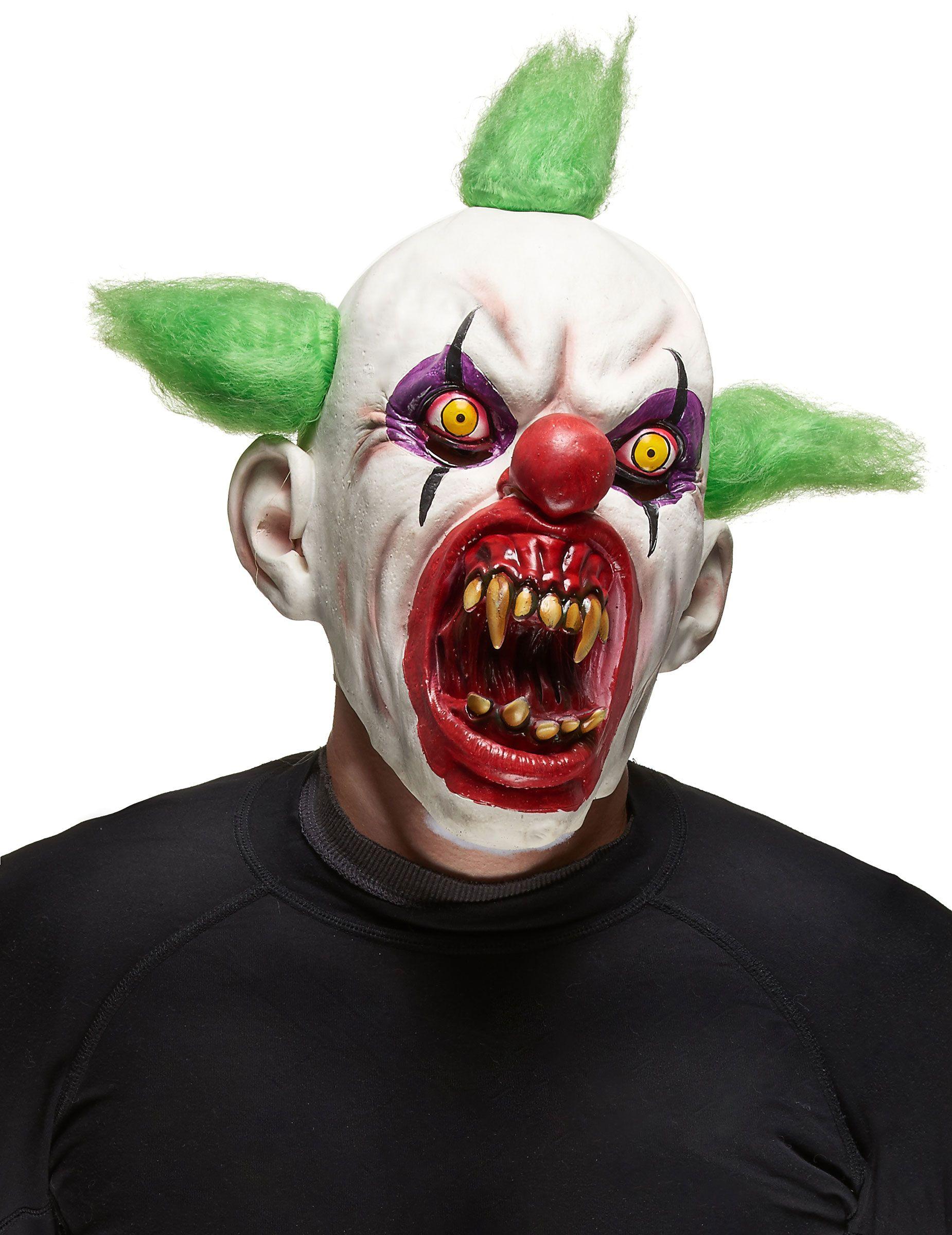 Latex head mask PSYCHO divertenti con capelli Costume Adulti Da Uomo Costume Accessorio