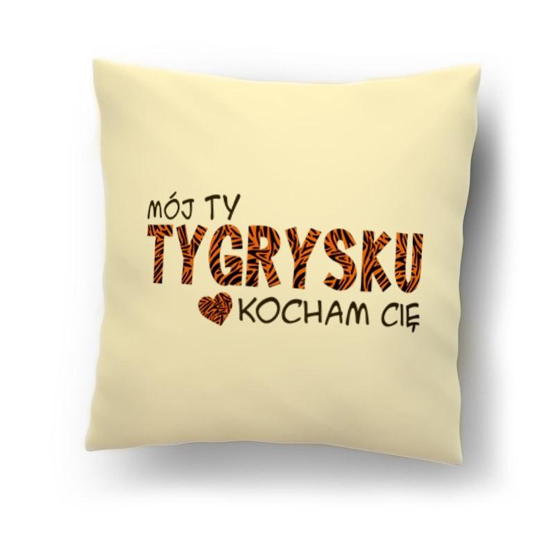 Moj Tygrysku Kocham Cie Poduszka Na Walentynki Dzien Chlopaka Love Valentines Throw Pillows Pillows