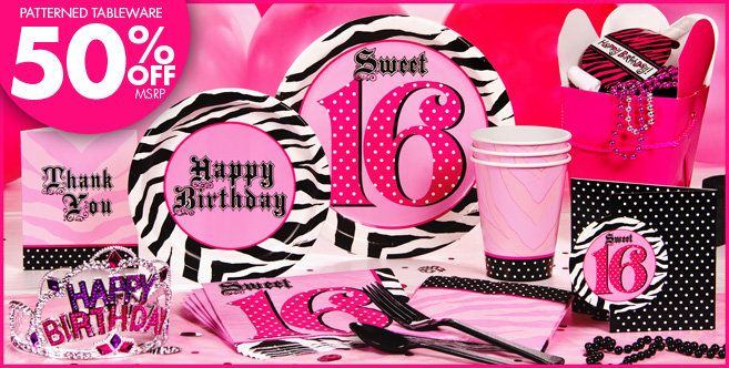 Super Stylish Sweet 16 Party Supplies Birthday Decorations