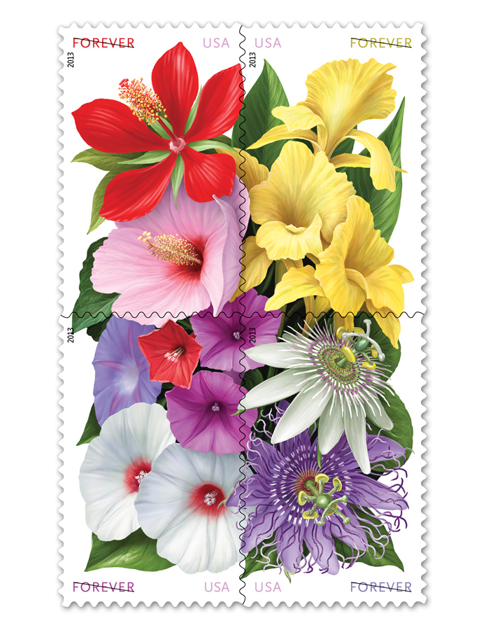 Usps Wedding Postage Designs Perfect Postageperfect Postage Flower Stamp Usps Stamps Postage Stamps