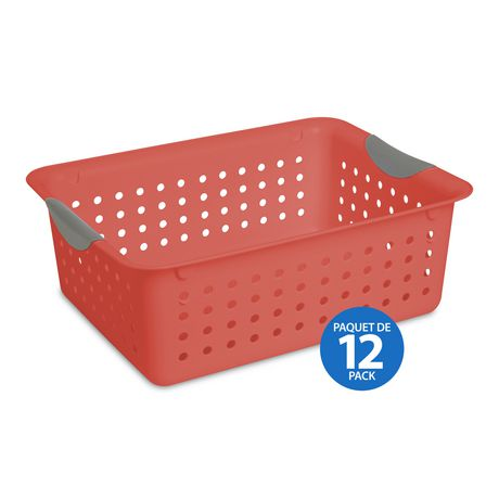 Sterilite Medium Ultra Basket Orange 6 Sets Of 2 Orange Basket Orange Plastic Laundry Basket
