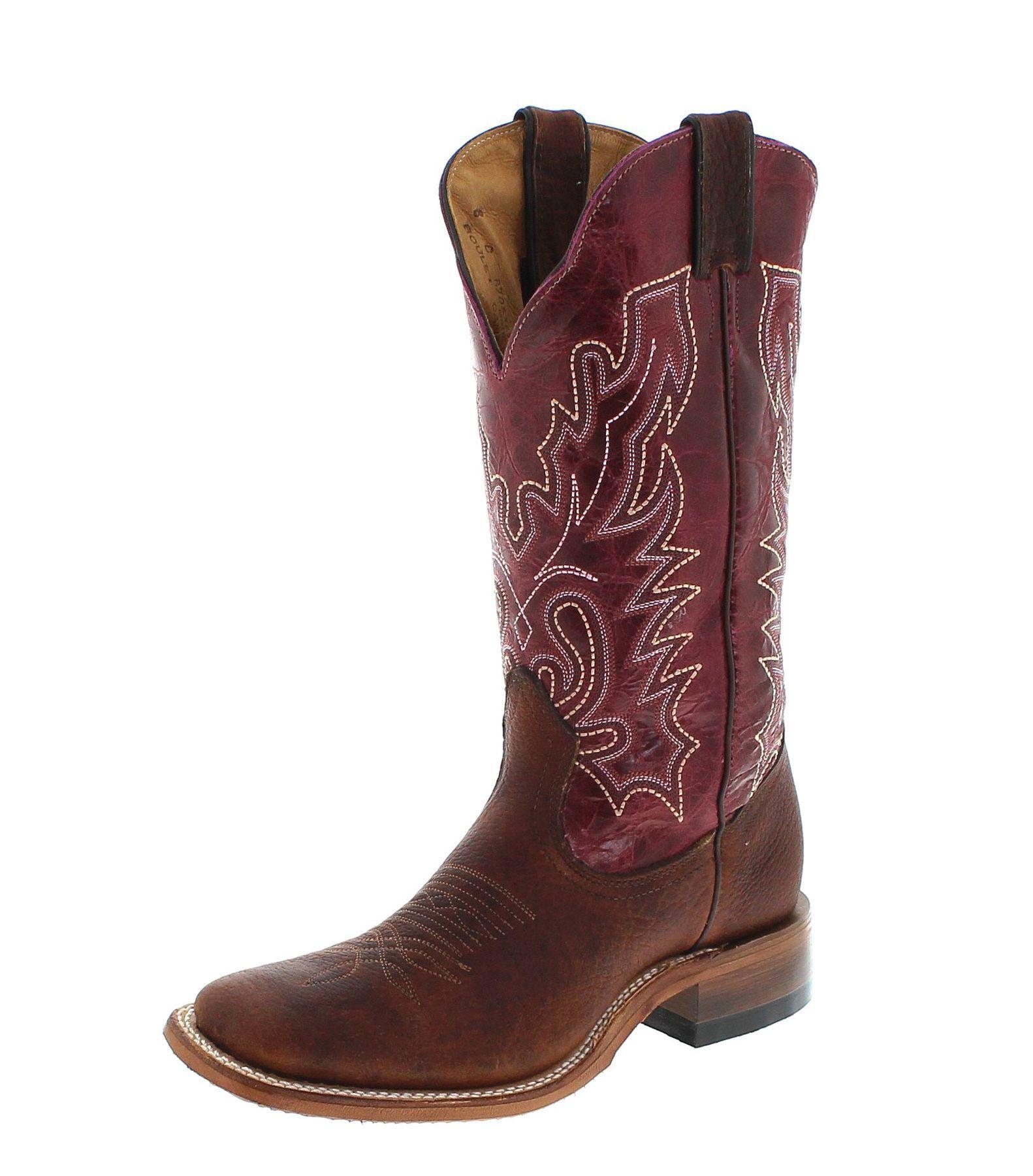 Justin Boots 2569 Brown Green Westernreitstiefel braun