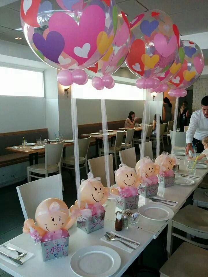Adorei esses arranjos de mesa baby shower baby shower for Decoration de table idees
