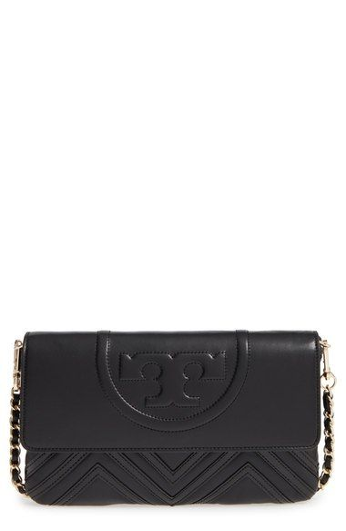 e91e8eb25729 Tory Burch  Fleming Geo  Convertible Leather Clutch available at  Nordstrom