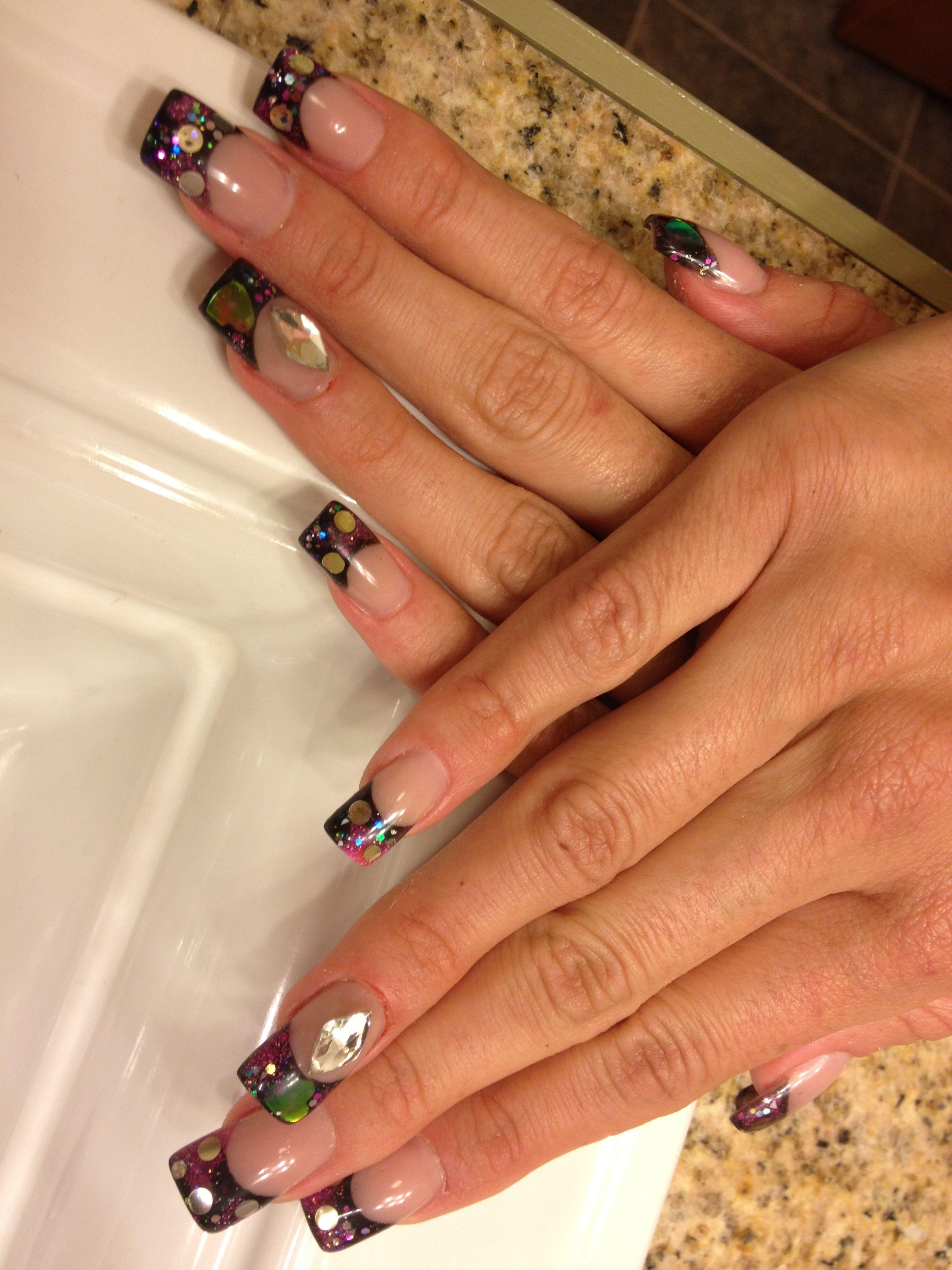 Constellation acrylic nails | Sara\'s nail designs | Pinterest ...