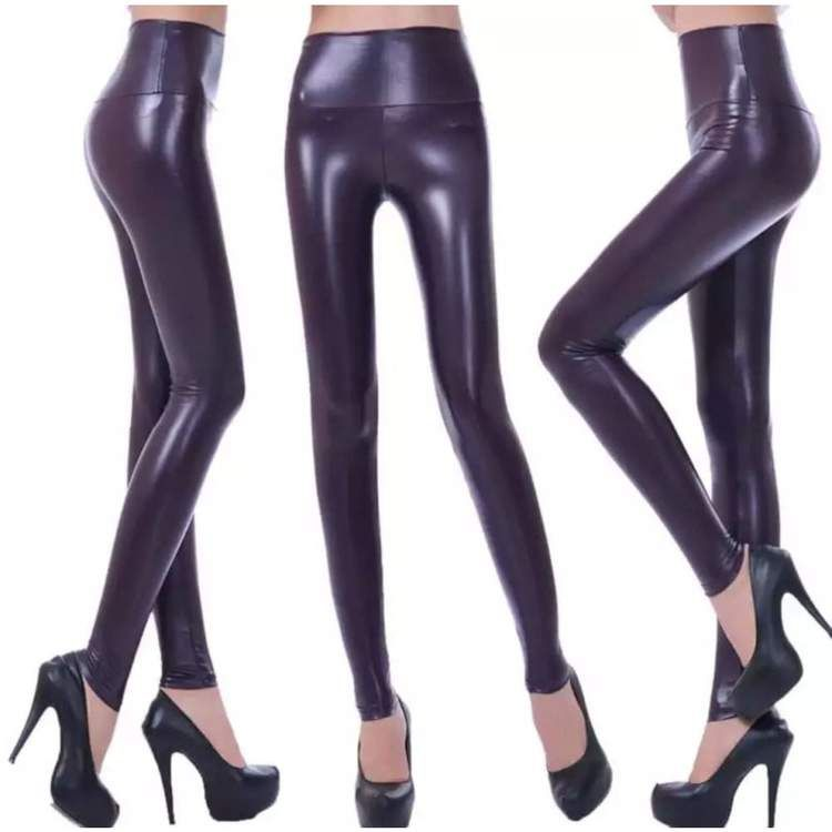fd3e1cb413314 Dark Purple Leather Pants Leggings in 2019 | Fashion | Leather Pants ...