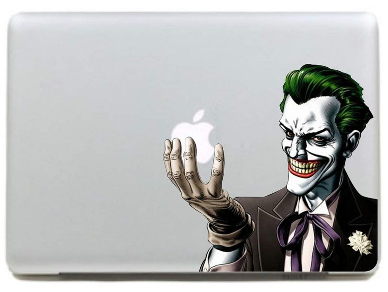 Batman Joker Clown Vinyl Decal Sticker For DIY Macbook Pro Air - Custom vinyl decals for macbook pro