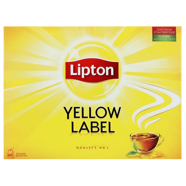La Boite Jaune Prix thé noir yellow label lipton : la boîte de 60 sachets - 120