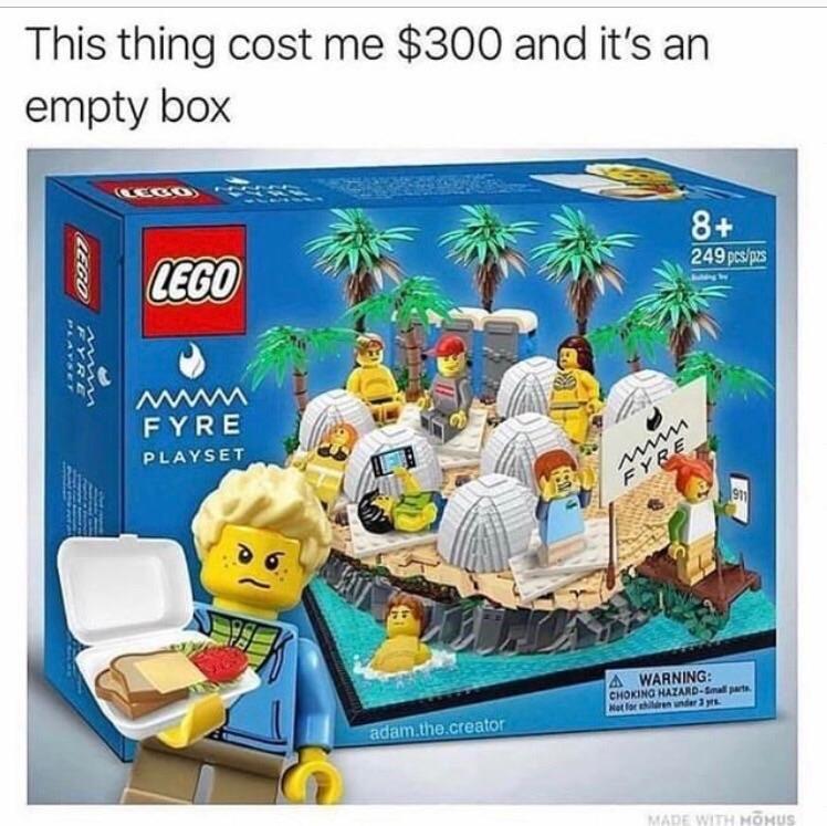 LEGO Fyre Island Set #memes #viral #trends #funny #meme # ...
