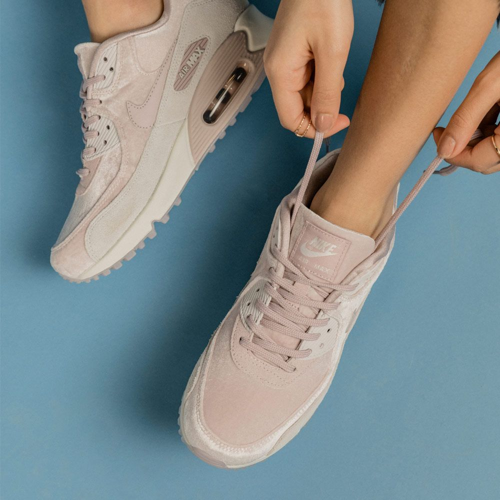 Nike Air Max 90 Velvet Pack Footasylum Womens Sneakers Fashion Everyday Shoes Womens Fashion Sneakers