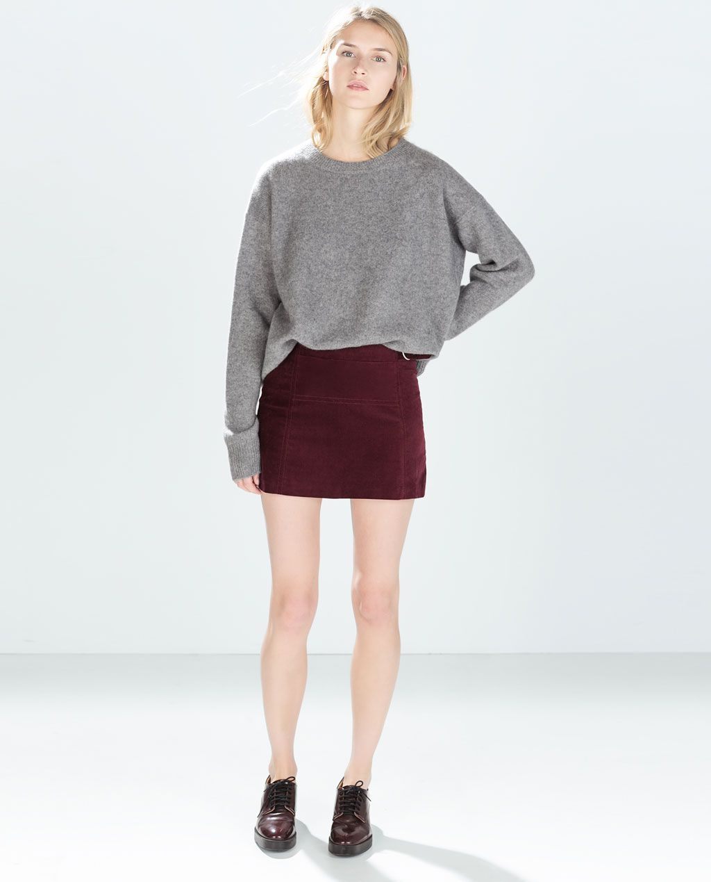 ZARA - NEW THIS WEEK - BUCKLED MOLESKIN MINISKIRT