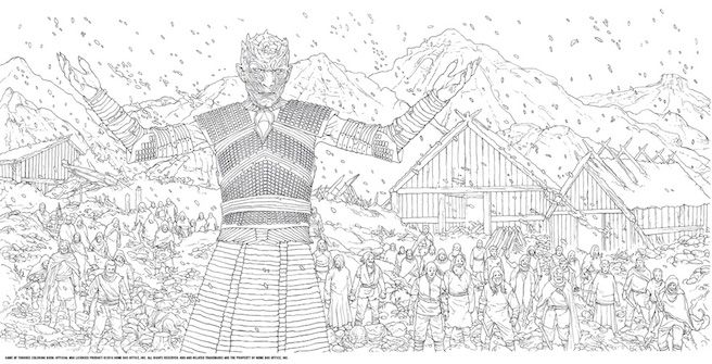 Game Of Thrones Coloring Book Hbo The Night King Hardhome
