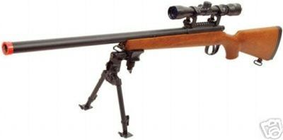AGM Deluxe VSR10 Bolt Action Airsoft Sniper Rifle ( Scope and Bipod Included )