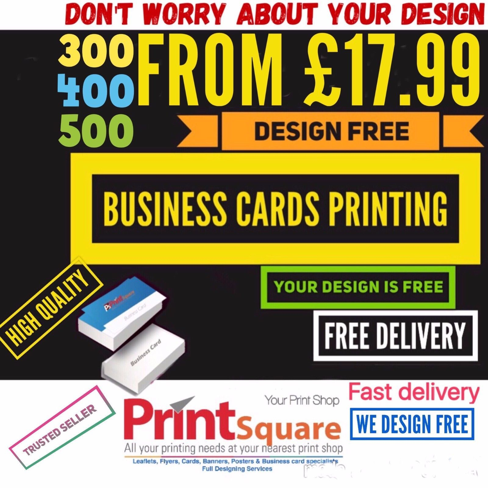 Business cards free design inclusive with printing 350gsm