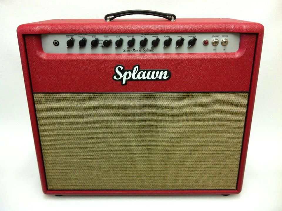Splawn Street Rod 40 Watt 1x12 Combo W Red Tolex Black Piping