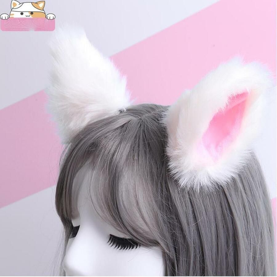 Animal Cat Ears Hairpin Cos Play Animal Dance Fox Ear Hair Clip Party Cute Girl Ad Affiliate Cos Pla Dance Hairstyles Ear Hair Hair Accessories For Women